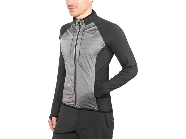 Yeti Mallow Full Windshield Jacket Herren black/gull grey